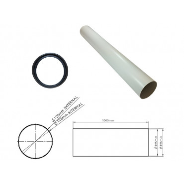 1 Metre Heat Recovery Extractor Extension Kit K-HRV150-EXT