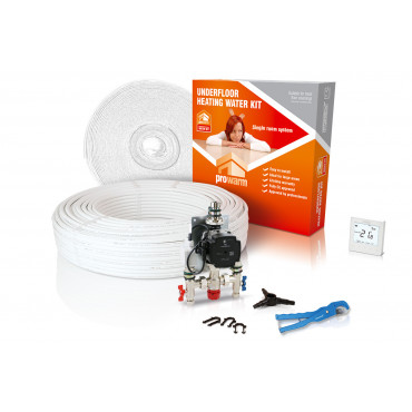 High Output Water Underfloor Heating Kit with Heatmiser neoStat Thermostat