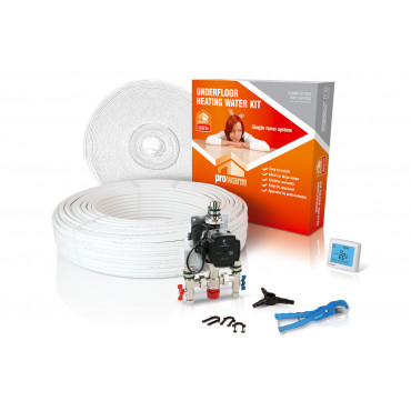 High Output Water Underfloor Heating Kit with Heatmiser Touch Thermostat