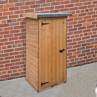 Half Wallshed Treated Compact Storage Unit / Shelter 0.9 x 0.76m