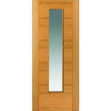 OAK EMRAL Prefinished  GLAZED Internal Door