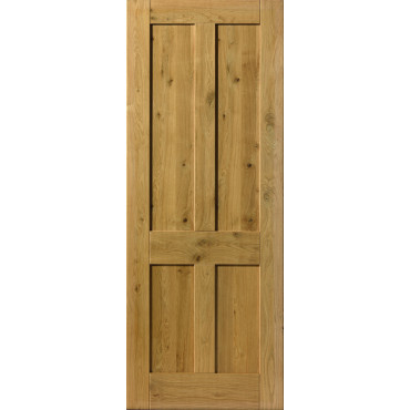 Rustic Oak 4 PANEL Prefinished Internal Door