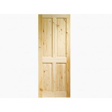 4 Panel Internal Knotty Pine Door Various Sizes