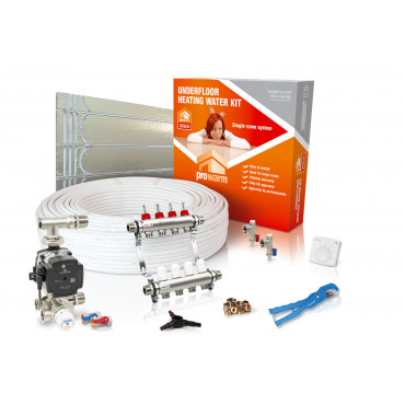 Low Profile Single Room Underfloor Heating Kit with Heatmiser DS1 Thermostat