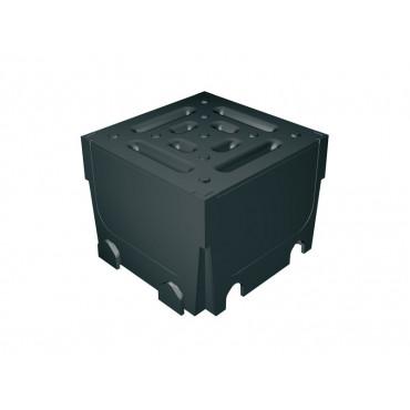 Quad Corner Unit Black Plastic Grating, Vertical Outlet MCD1003