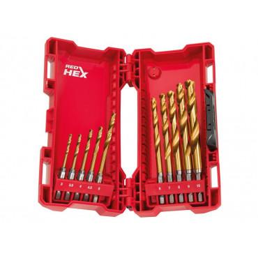 SHOCKWAVE™ HSS-Ground Titanium Metal Drill Bit Set, 10 Piece