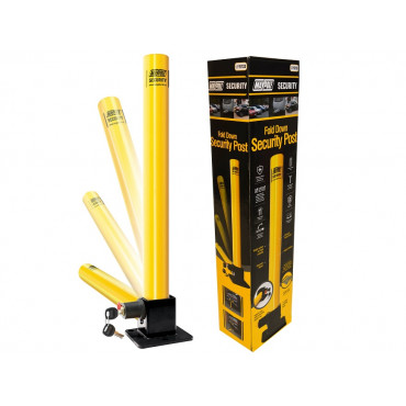 MP9733 Locking Fold Down Steel Security Parking Post