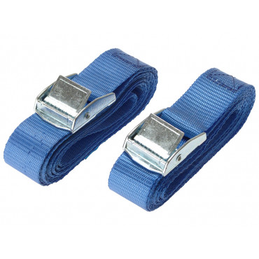 Cam Buckle 25mm x 2.5m (1in x 98in) 2 Piece