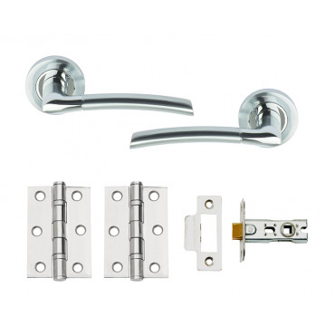 Plus Internal Dual Finish Door Handle Set With Hinges + Latch