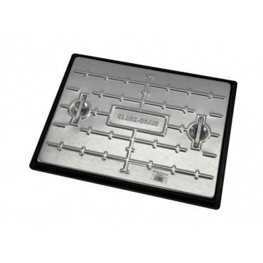 600 x 450mm Galvanised Manhole Cover & Frame Pedestrian PC6AG