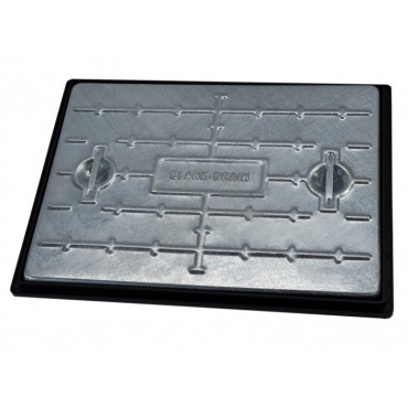 600 x 450mm 25T Galvanised Solid Top Manhole Cover