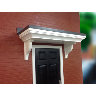 Pontefract Flat Lead Effect Roof GRP Door Canopy