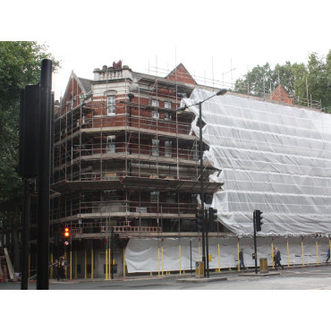 Scaffold Sheeting 45m x 2m Roll White Transparent