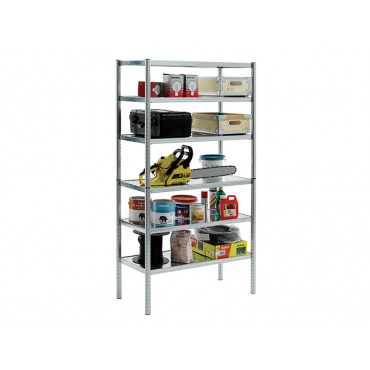 S450-31 Galvanised Shelving with 6 Shelves