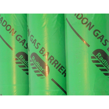 Radon Gas Barrier Roll 300MU BRE Certified 25m x 4m