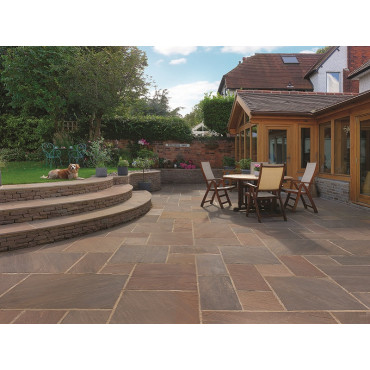 Raj Blend Premium Select Natural Sandstone Paving Pack 7.2m2