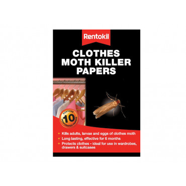 Clothes Moth Papers (Pack of 10)