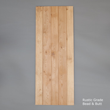 Bead & Butt Select Rustic Oak Ledged Door
