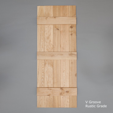 V Grooved Select Rustic Oak Ledged Door