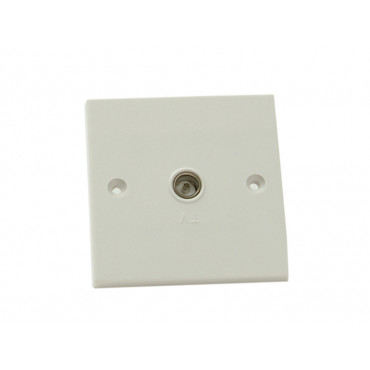 Coaxial TV Socket 1 Gang