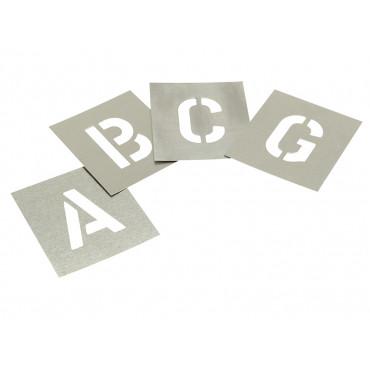 Zinc Stencils - Letters