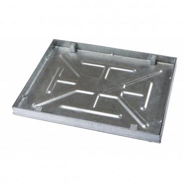 Galvanised 600 X 450 X 43.5mm Sealed & Locking Recessed Manhole Cover