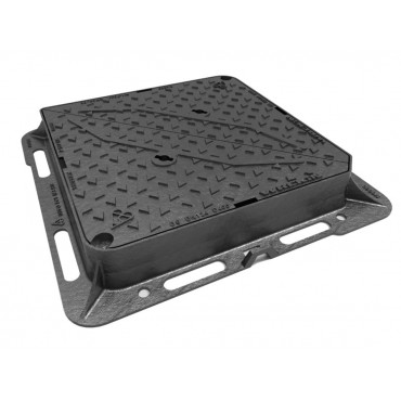 675mm x 675mm x 100mm Tristar D400 Ductile Iron Manhole Cover