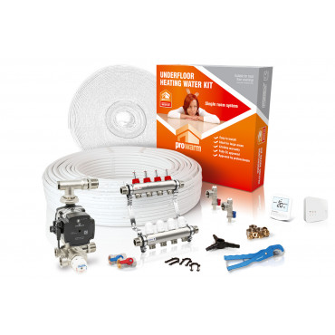 Standard Output Water Underfloor Heating Kit - with Heatmiser Slimline-RF Thermostat