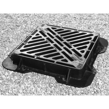 Waterway 2000 D400 Double Triangular Gully Grating 600 x 600 x 100 3 Flanged Frame