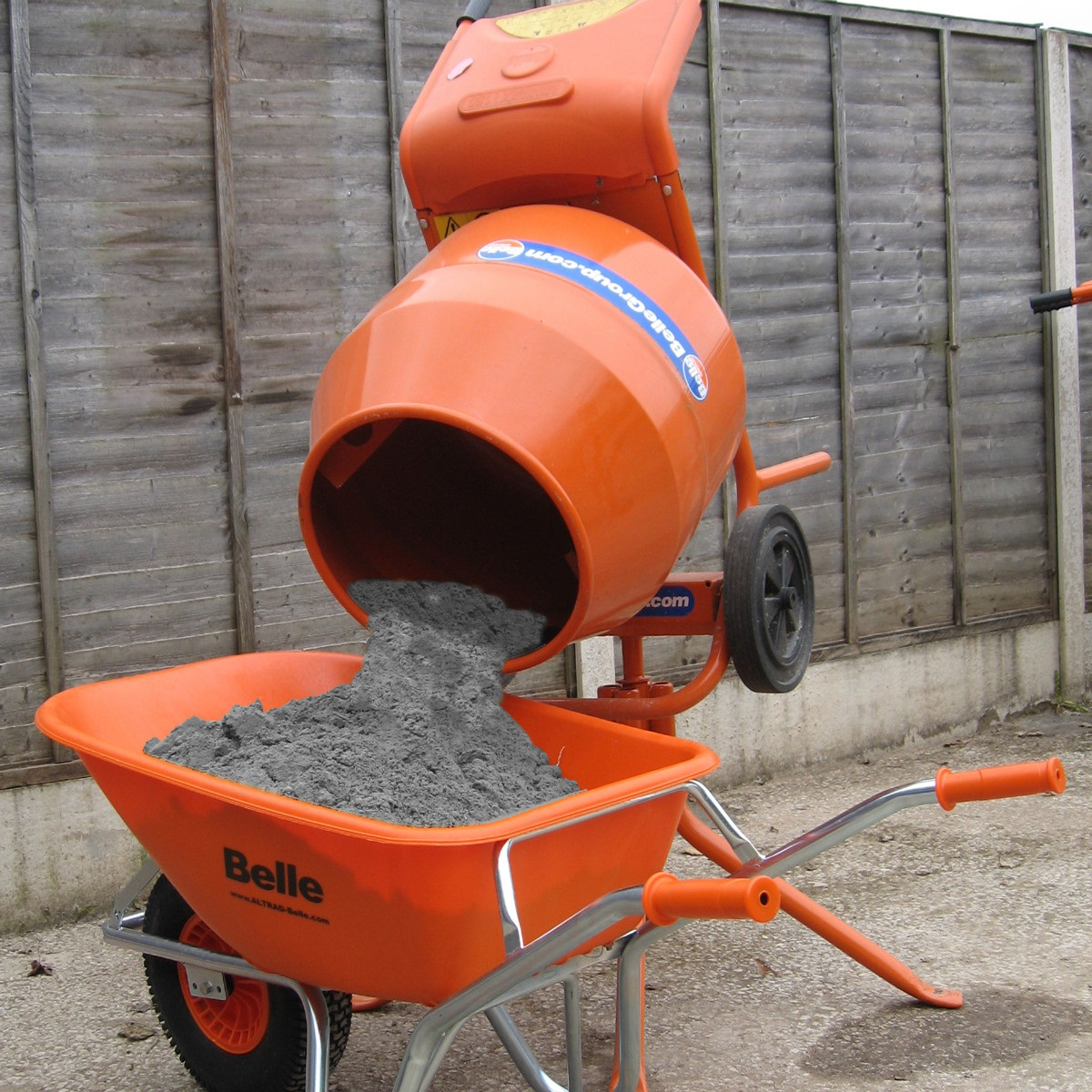 Used Small Cement Mixers : Belle minimix petrol cement mixer honda engine ebay